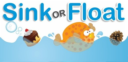 Float and sink clipart.