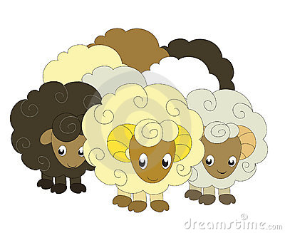 Flock Sheep Clip Art.
