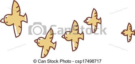 Vector Clip Art of A flock of birds csp17498717.