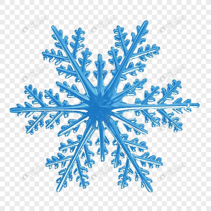Photo de flocon de neige bleu_Numéro de l'image400910205_Format d.