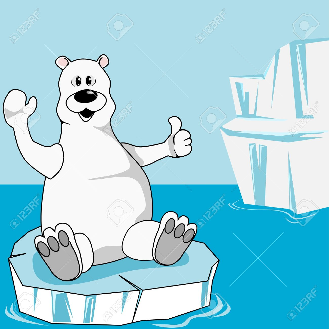 Polar Bear On An Ice Floe Royalty Free Cliparts, Vectors, And.