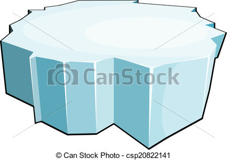 EPS Vector of Cartoon ice floe. Isolate on white background.