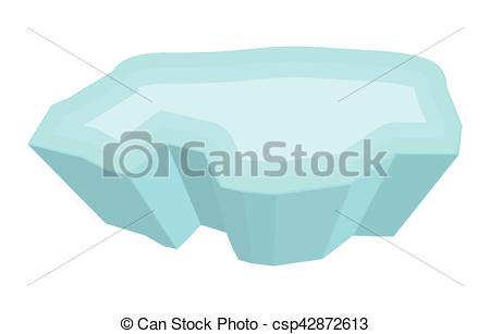 Vector Clip Art of ice floe vector symbol icon design. Beautiful.