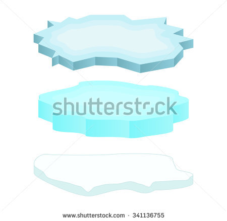 Ice floes clipart #9