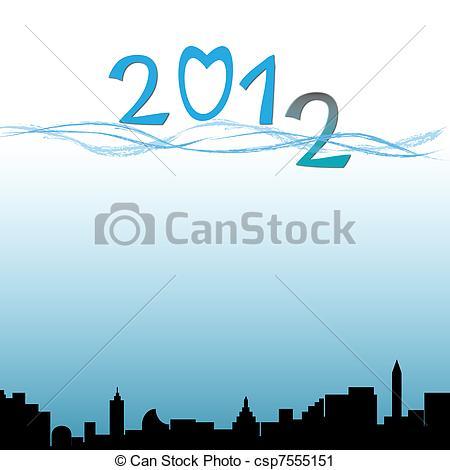 Clipart of 2012 flood csp7555151.