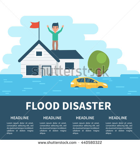 Flooding Stock Photos, Royalty.