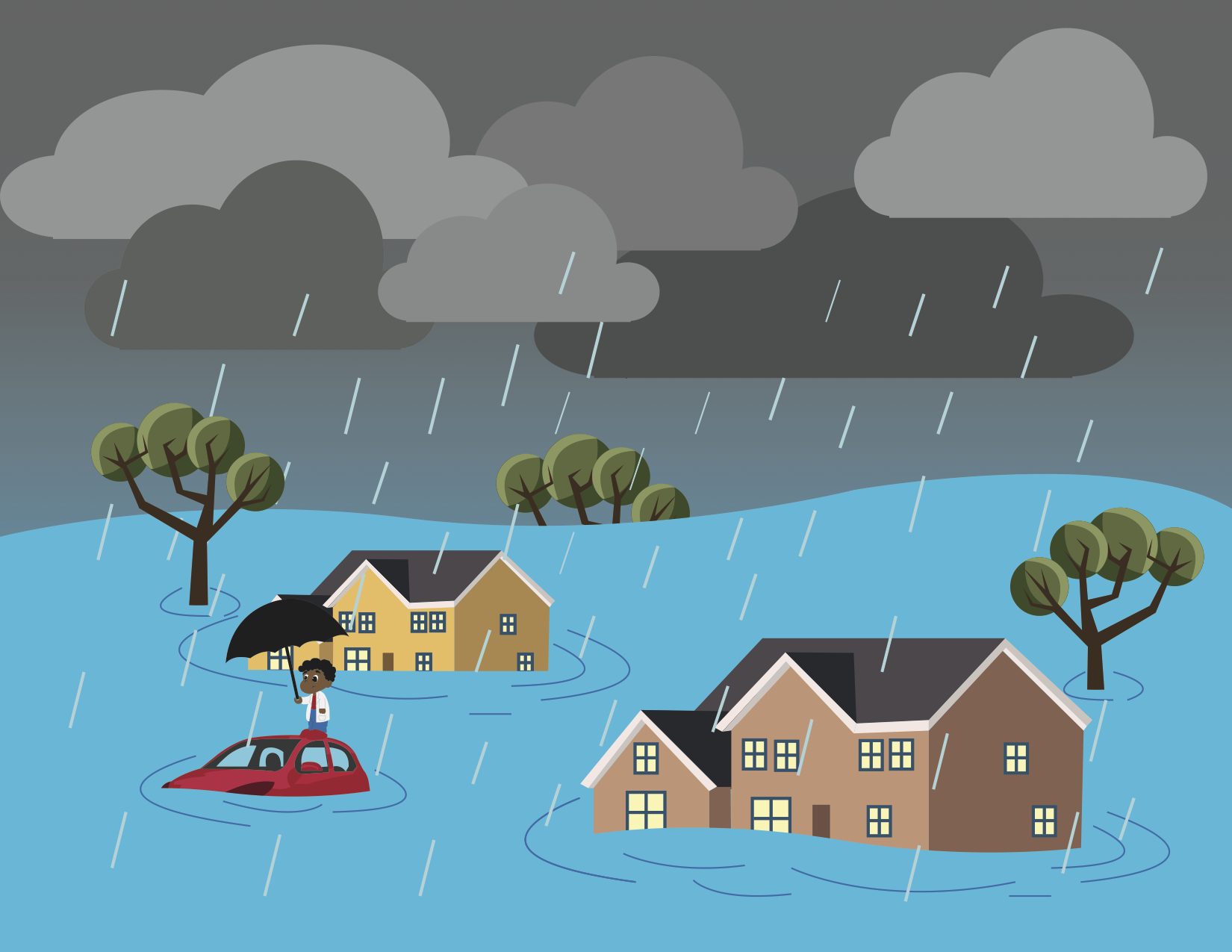 Cartoon flood.