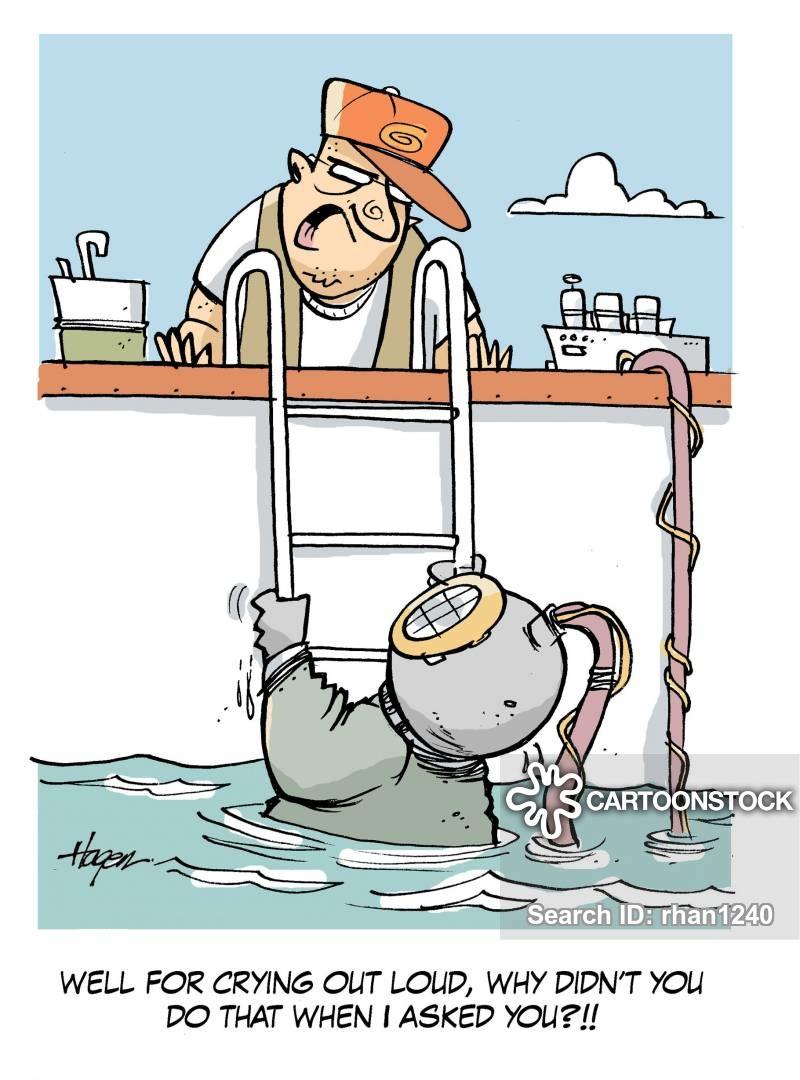 Flood Water Cartoons and Comics.
