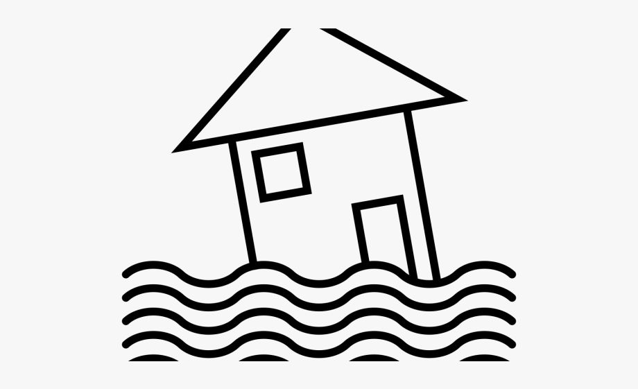 Flooded Clipart Black And White.