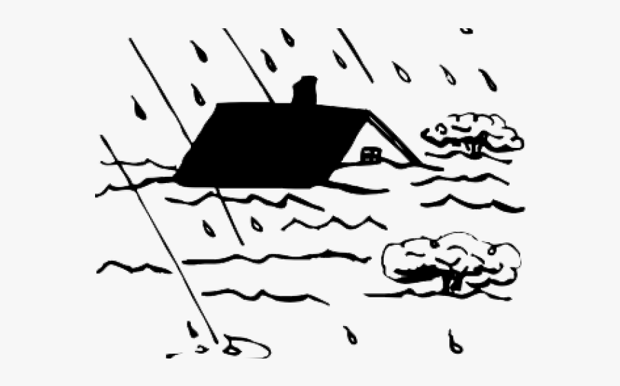 Flash Flood Clipart Black And White , Free Transparent.