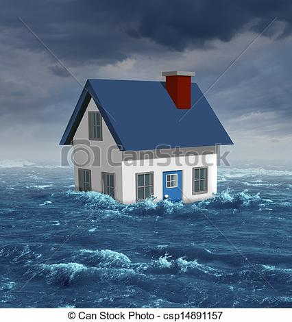 Stock Images of House Flood.