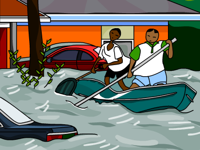 Flood disaster clipart.