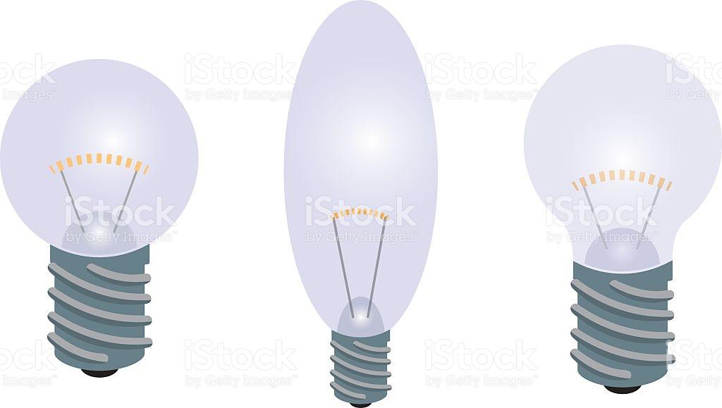 The Set Of Light Bulbs stock vector art 615914396.