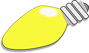 Flood light bulb outline clipart.