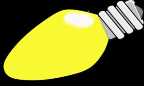 Flood light bulb outline clipart.