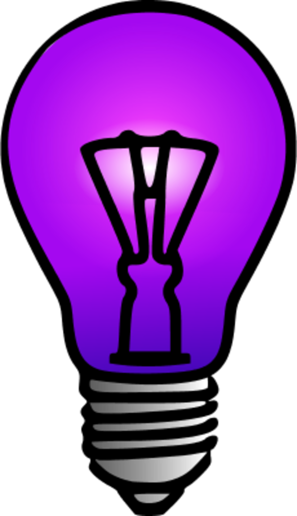 Purple Light Bulb.