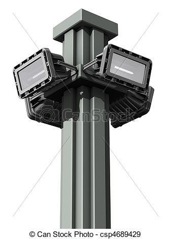 Stock Illustration of Floodlight column.