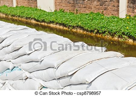 Picture of Sandbags for Flood Protection.