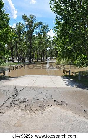 Stock Image of Flooded River Path k14793295.