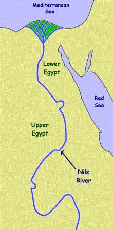 The nile river clipart map.