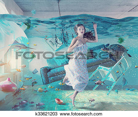 Drawing of underwater flooding interior k33621203.