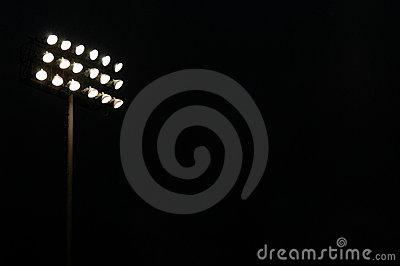 Sports Stadium Flood Lights Stock Photo.