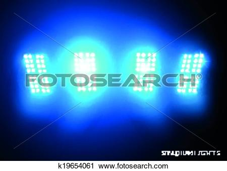 Clipart of Stadium Lights (Floodlights) k19654061.
