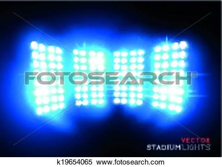 Clipart of Vector Stadium Floodlights k19654065.