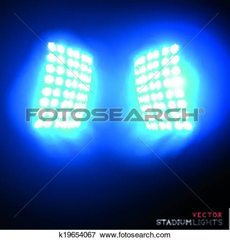 Clip Art of Vector Stadium Floodlights k19654067.