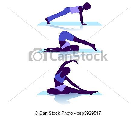 Vectors Illustration of floor exercises csp3929517.