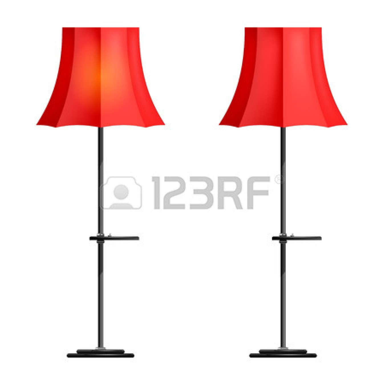 Floor Lamp Clipart Black And White.