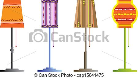Vectors Illustration of floor lamps.