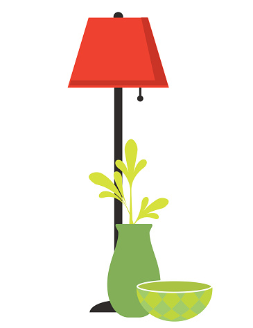 Floor Lamp Clip Art, Vector Images & Illustrations.