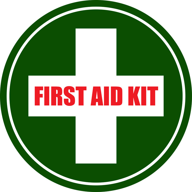 First Aid Kit Floor Sign and other industrial floor marking.