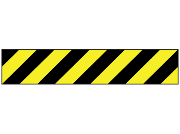 Safety and floor marking tape, black and yellow chevron..