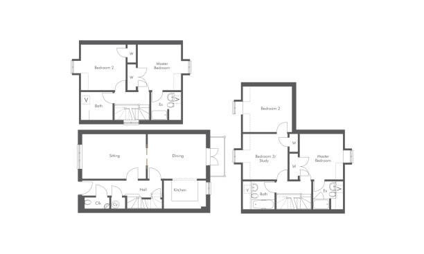Best Floor Plan Illustrations, Royalty.