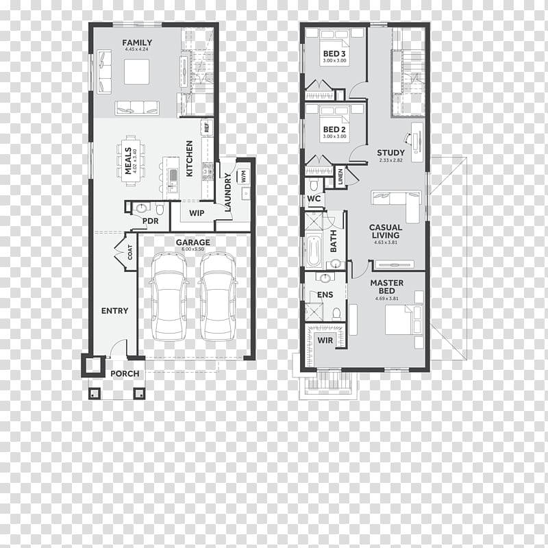 Floor plan Furniture Line, design transparent background PNG.