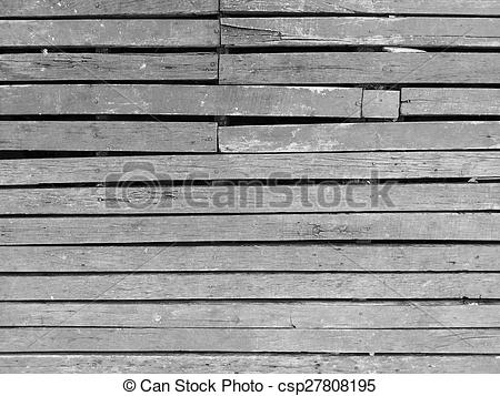 Stock Photographs of Wood slat floor texture black and white.