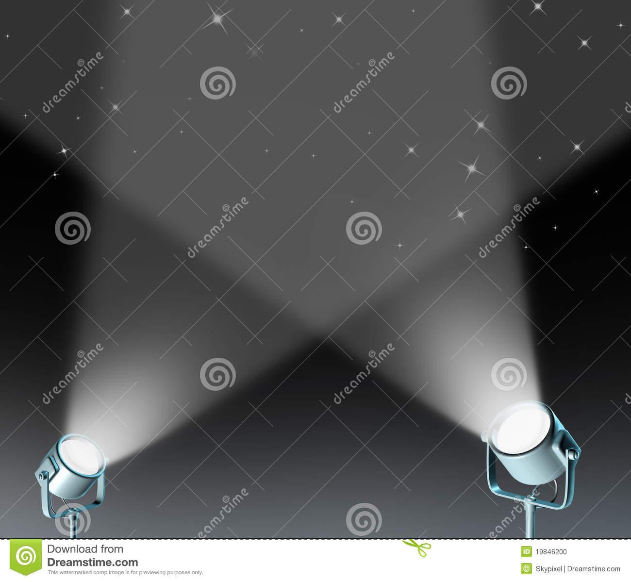 Floor Spotlight Clipart.