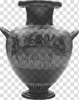 Gray floor vase illustration transparent background PNG.