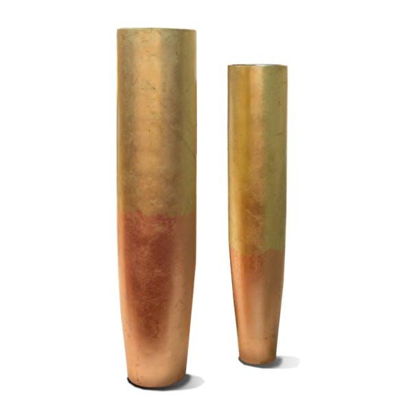 Gold Leaf Design Group Nobu Floor Vase.