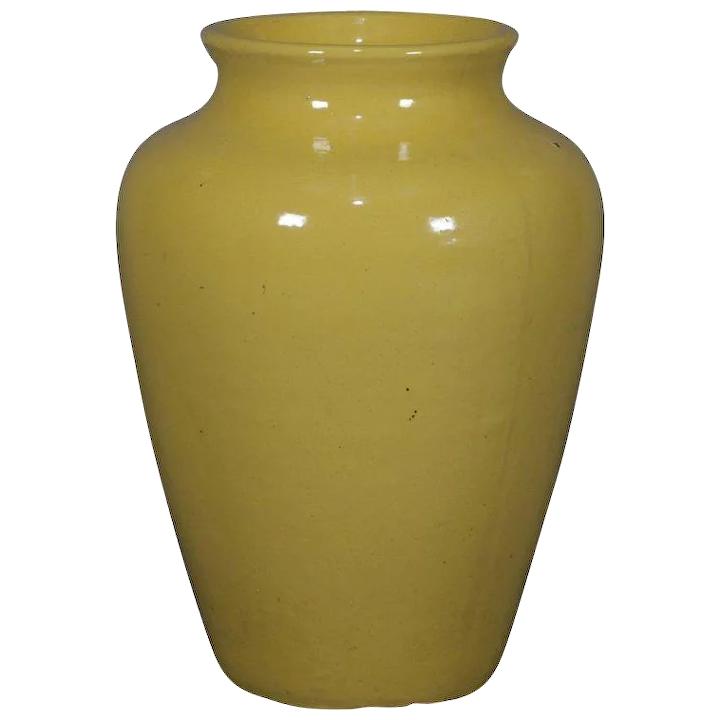 Brilliant Zanesville art pottery floor vase.