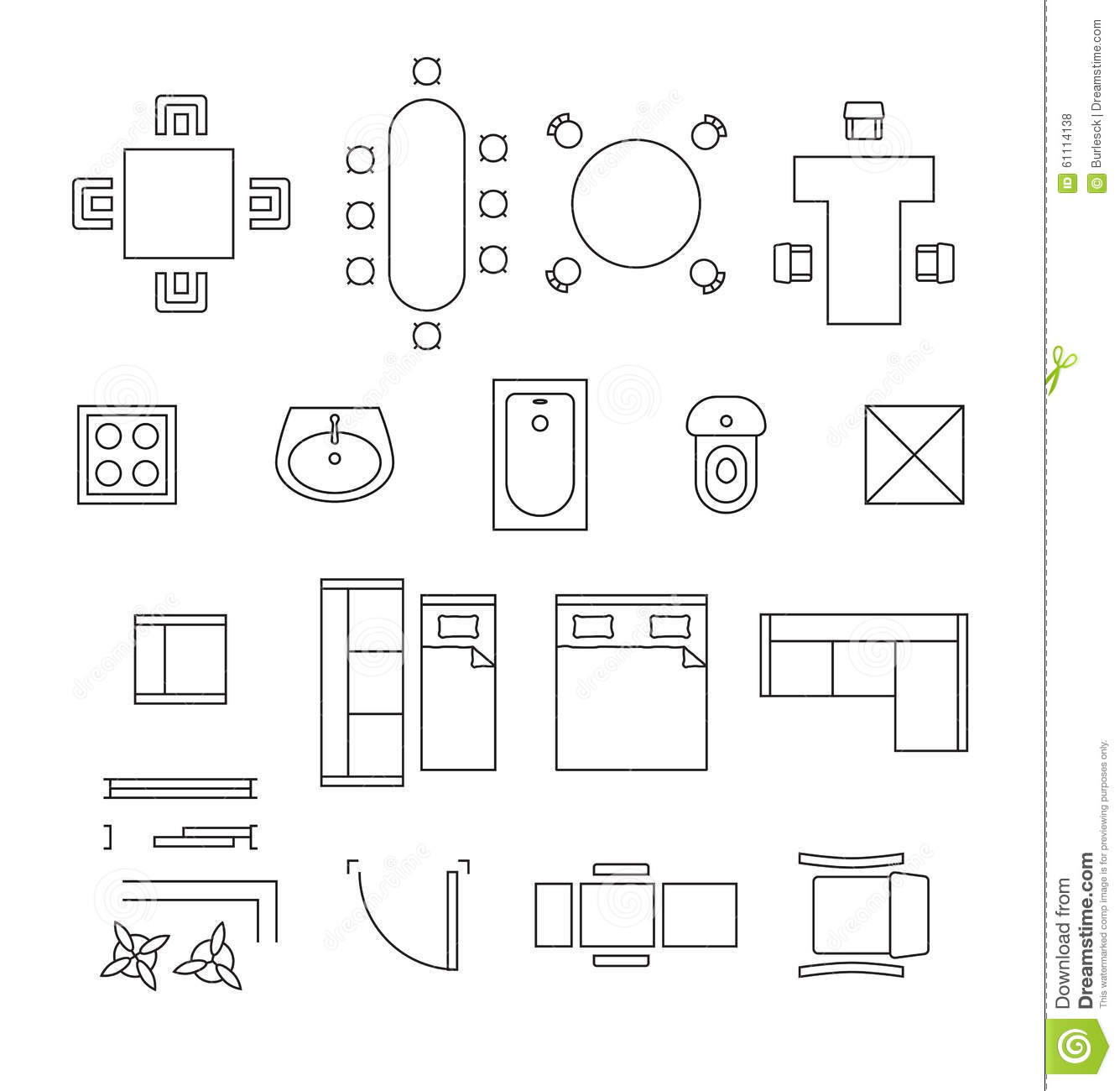 Clip art floor plan symbols clipground for Floor plan furniture planner