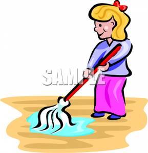 Floor Cleaning Equipment Clipart.