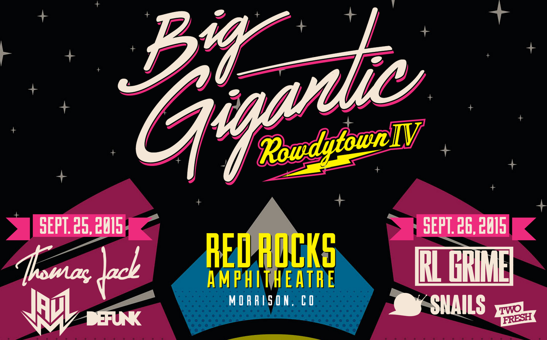 Big Gigantic Announces Rowdytown IV at Red Rocks Amphitheatre.