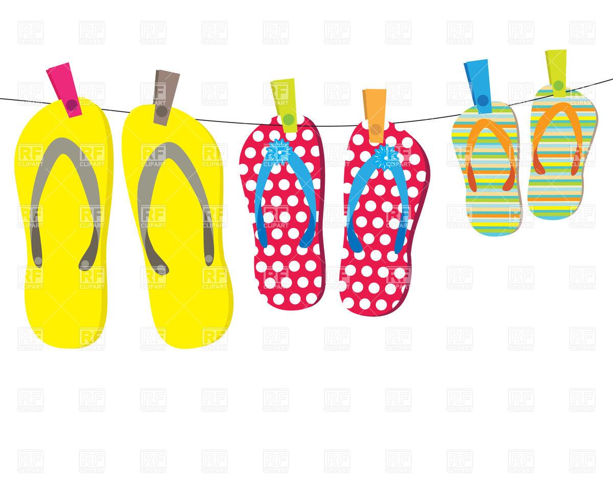 Summer Flip Flop Clipart.