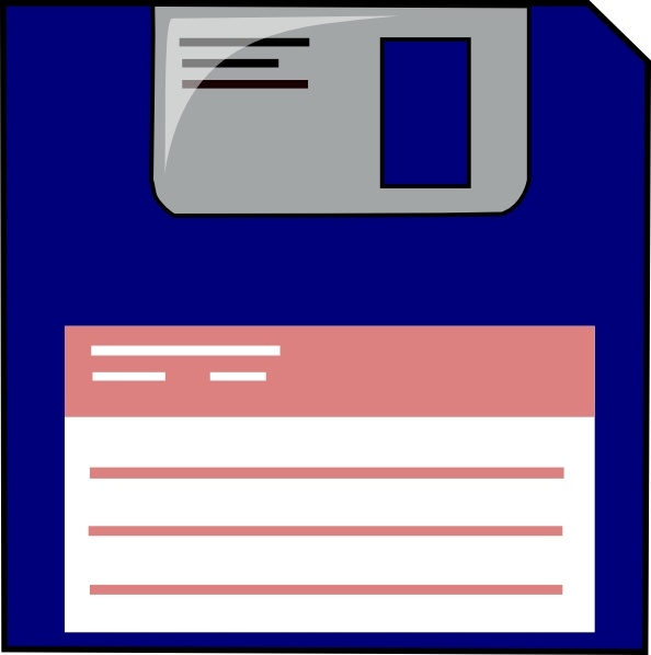 Floppy Disk clip art Free vector in Open office drawing svg ( .svg.