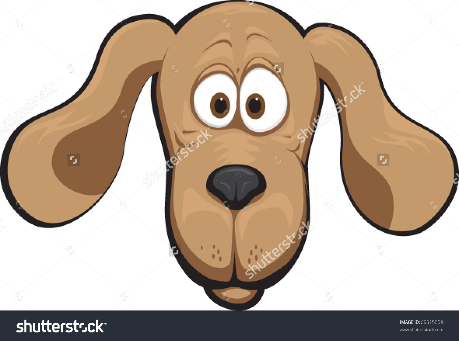 Floppy dog ear clipart.