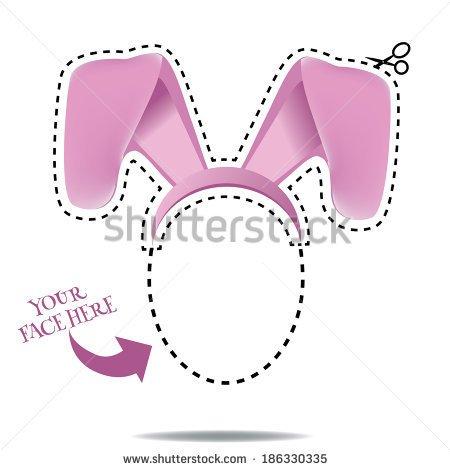 Floppy bunny ears clipart.