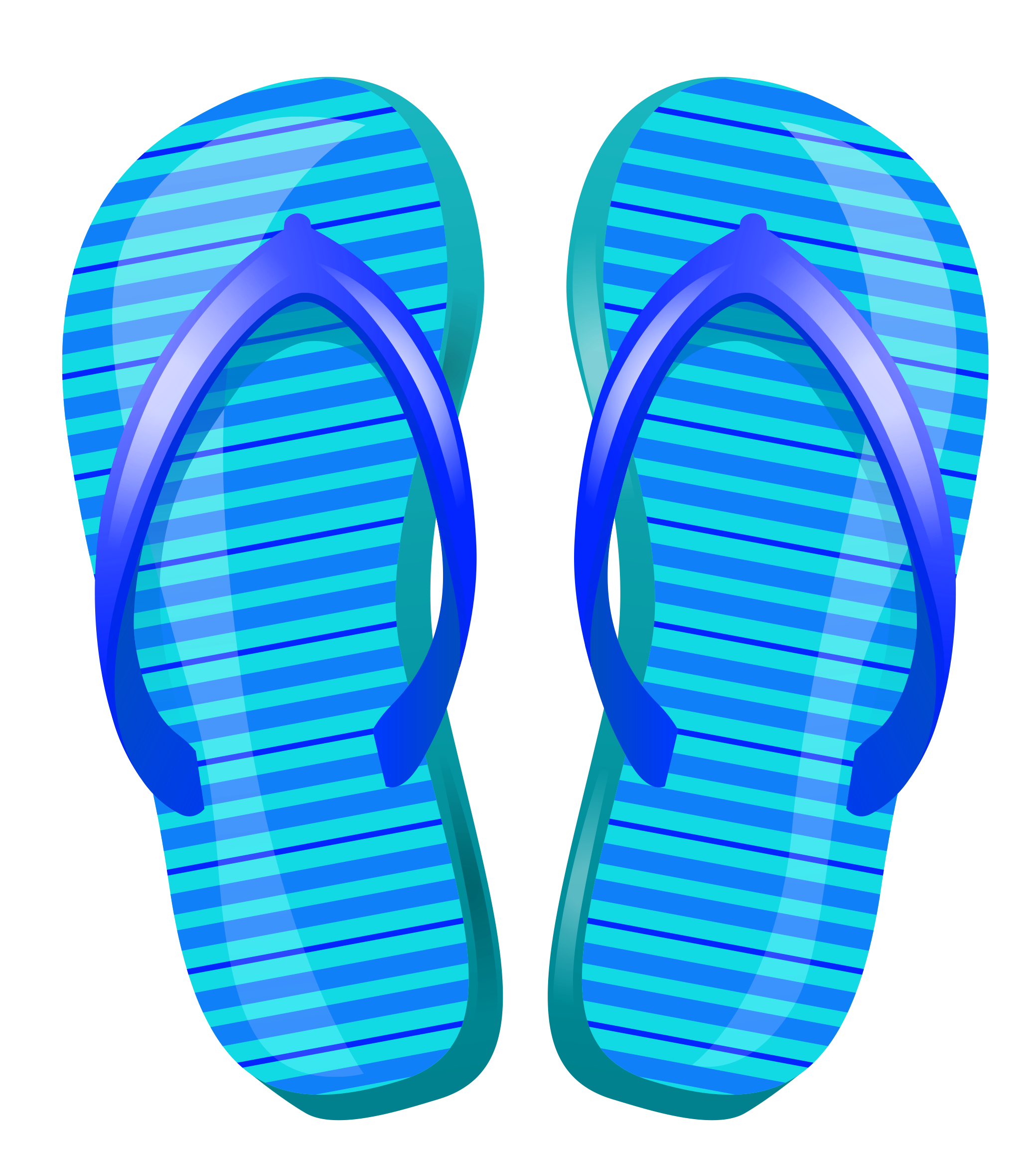 Flip flops clip art at clker vector.